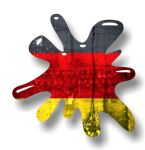 New SPLAT Design With Germany German Flag Motif External Vinyl Car Sticker 110x110mm